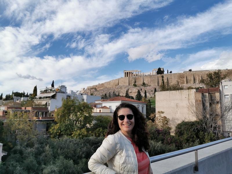 Acropolis Müzesi kafeteryasından manzara
