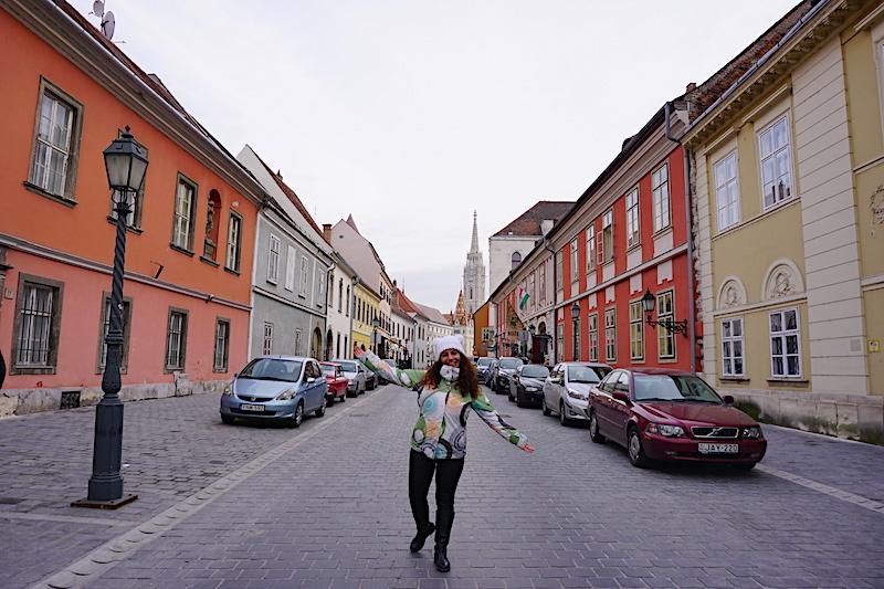 Buda Kalesi içindeki sokaklar