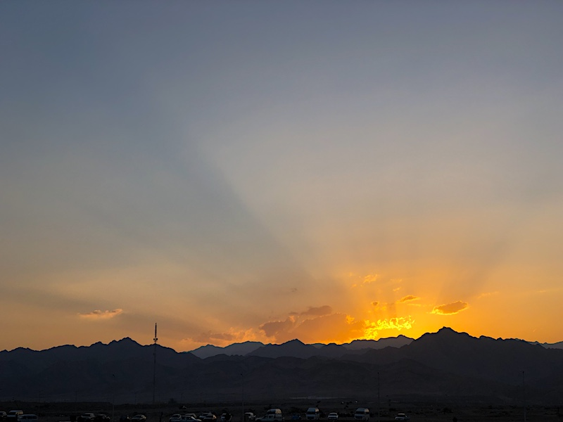 Dahab'da gün batımı