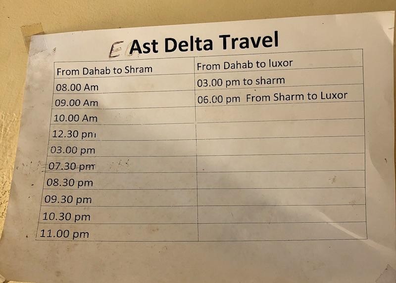 East Delta otobüs saatleri