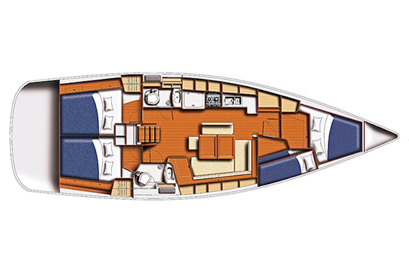 Deepseasailing teknesi yerleşim planı