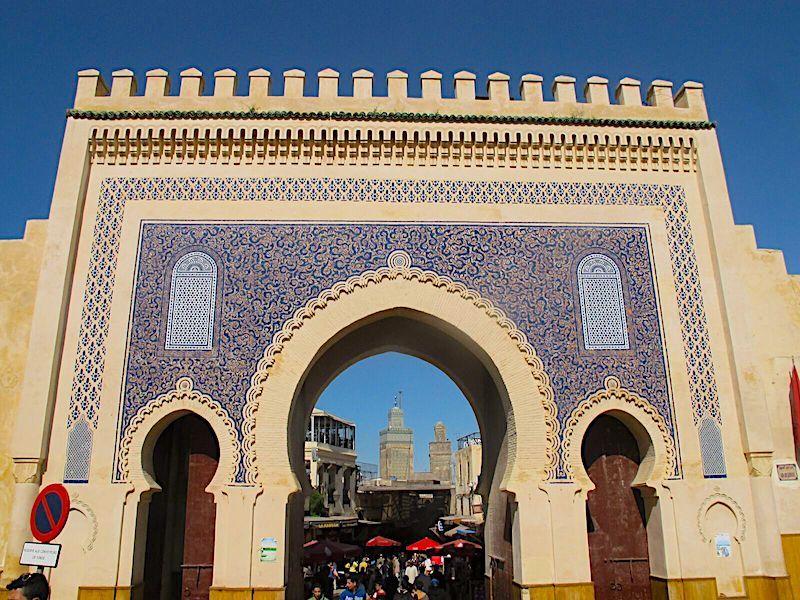 Fes gezilecek yerler - Bab Boujloud Kapısı