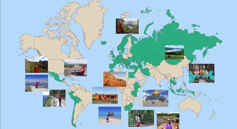 Gezdiğim Ülkeler Haritası