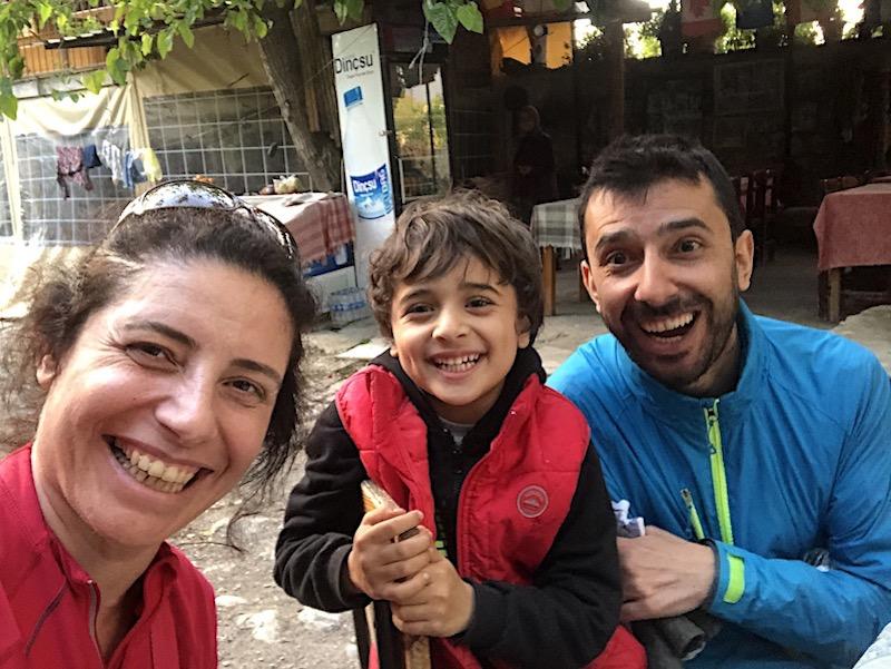 Kayaköy'de gözlemecideki arkadaşımız İsmail
