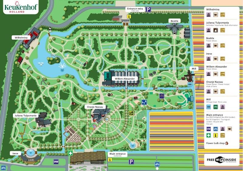 Keukenhof Parkı Haritası