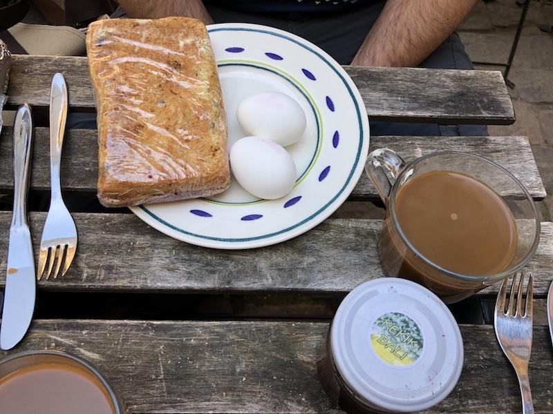Kopenhag'a hostelde hazırladığımız kahvaltımız