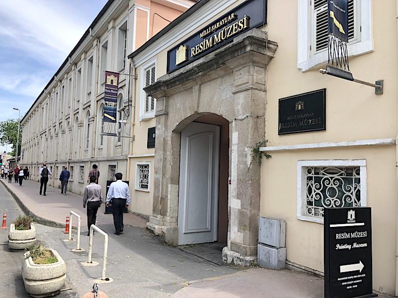 Milli Saraylar Resim Müzesi Girişi