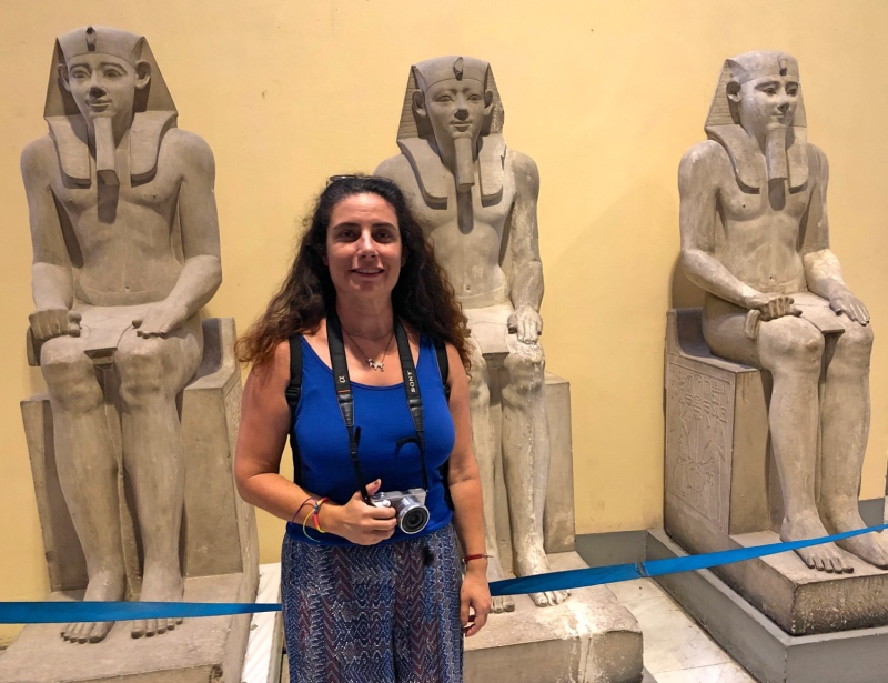 Mısır Müzesi'nde gezen biri tarafından çekilmiş fotoğrafım
