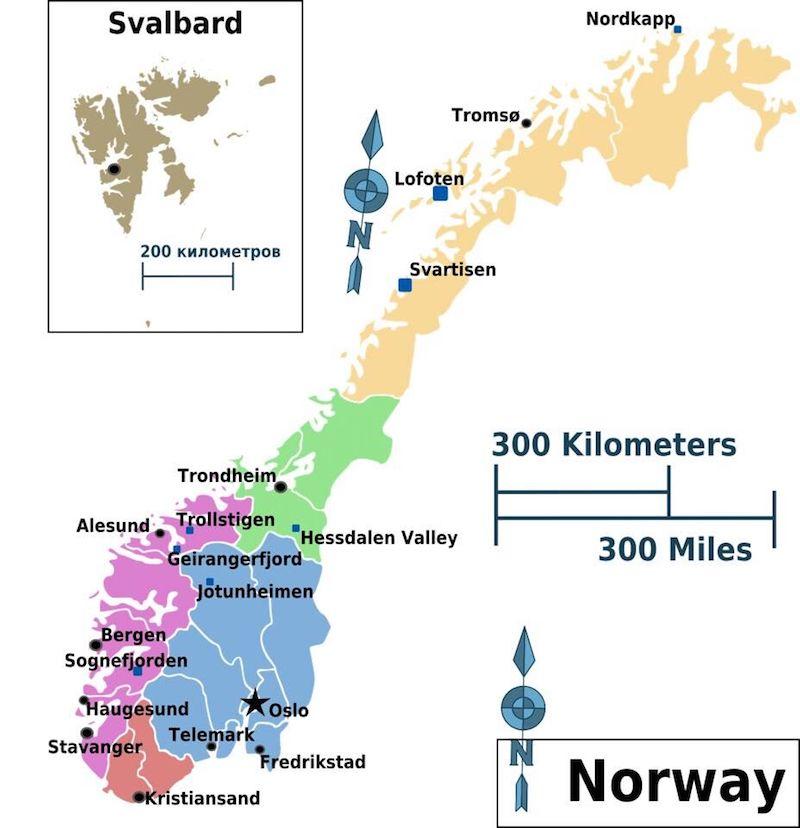 Norveç Doğa Yürüyüşleri Rotası
