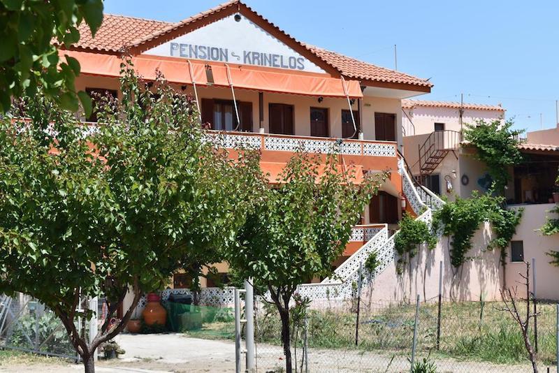 Skala Eresou'daki Pansion Apart otel Pension Krinelos