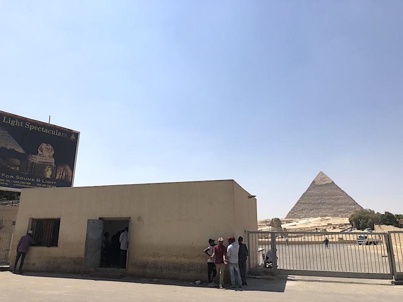 Giza piramitleri giriş kapısı