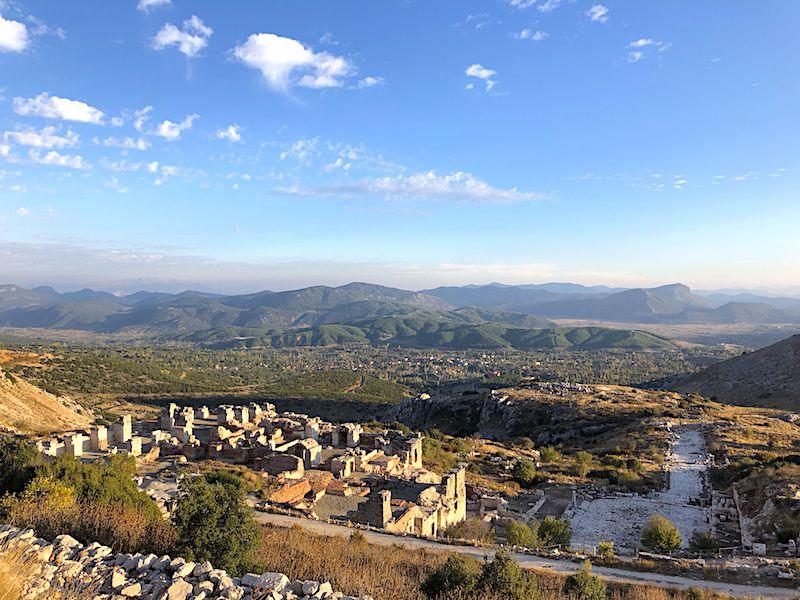 Sagalassos Antik kentinin kurulduğu tepeler