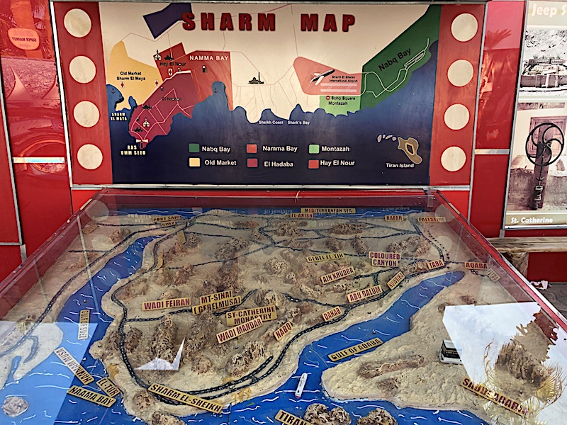 Sharm El Sheikh Gezilecek Yerler Haritası