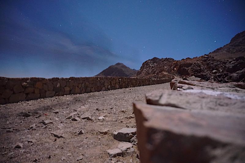 Sina Dağı'na çıkış için kullanılan deve yolu