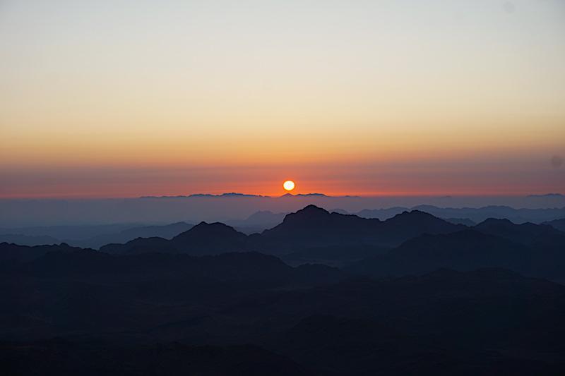 Sina Dağı'nda gün doğumu turu