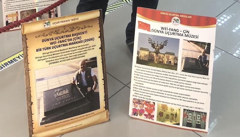 İstanbul Uçurtmacılar Derneği'nin Çin'de yer alan plaketi