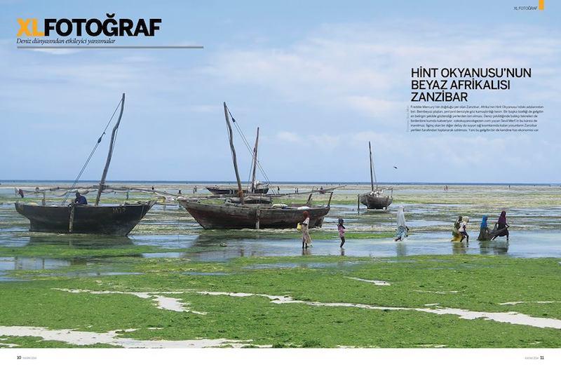 Zanzibar Fotoğrafım Motor Boat & Yachting Dergisinde