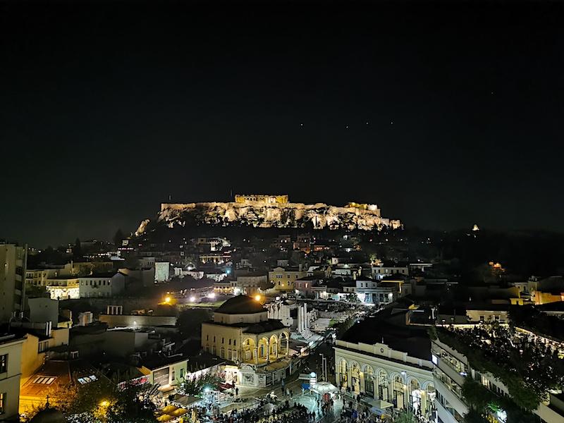 A for Athens Rooftop Bar manzarası