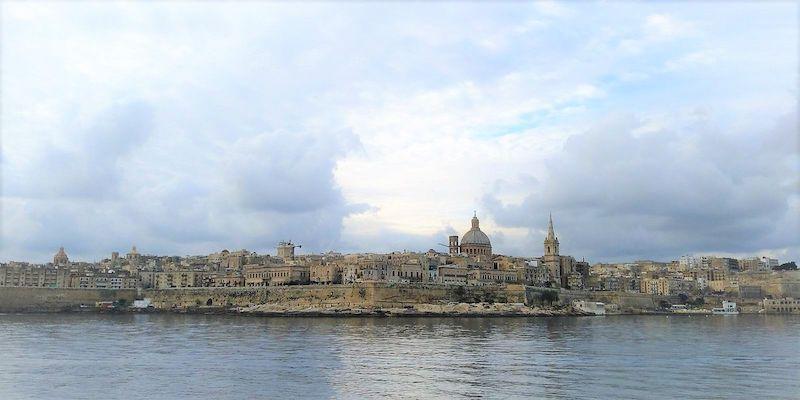 Gzira'dan Valetta Manzarası