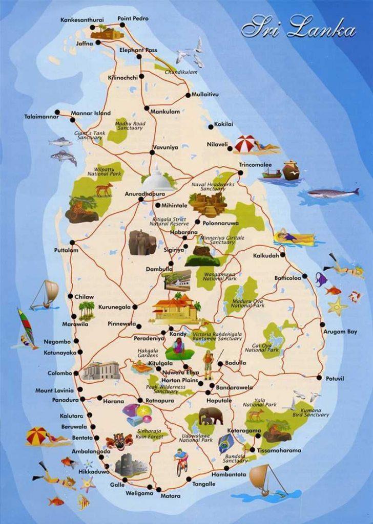 Sri Lanka haritası