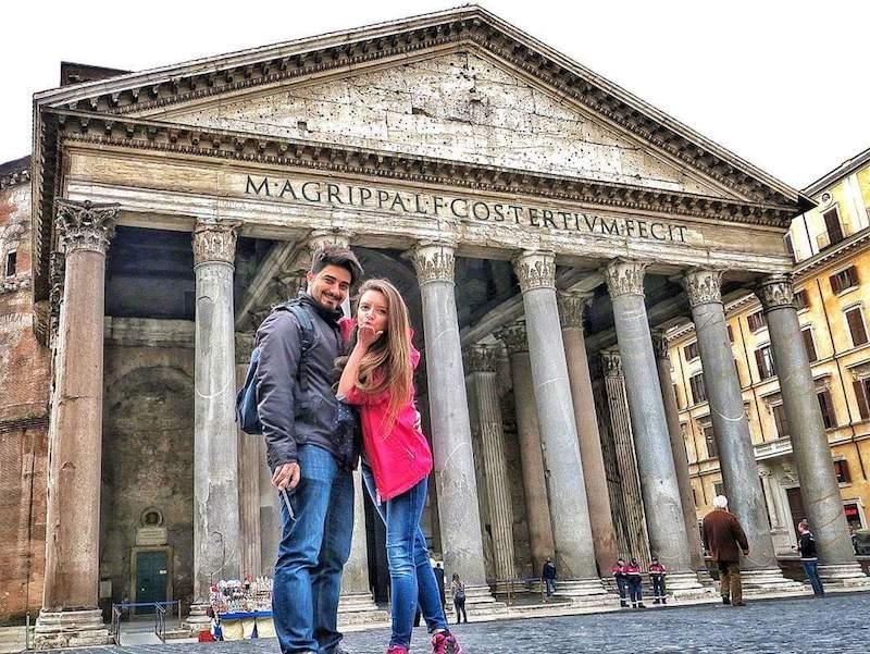 Arzu ve Aydın Elgezen, Roma, İtalya