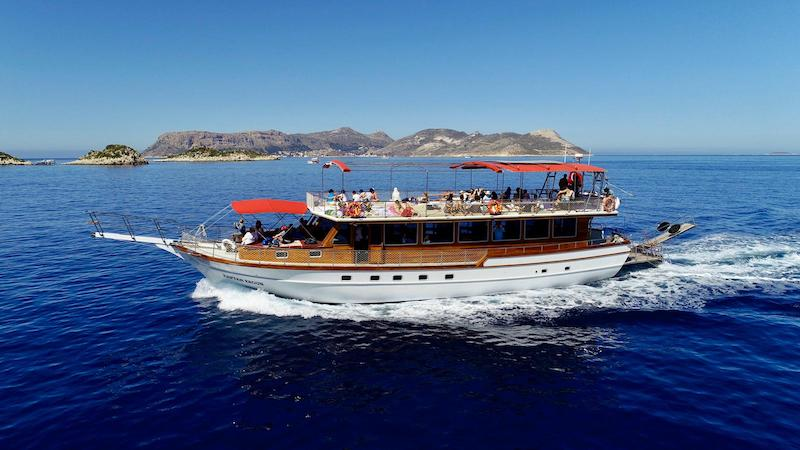 Kaş'ta Tekne Turu - Kaptan Ergun Gulet Tur Teknesi