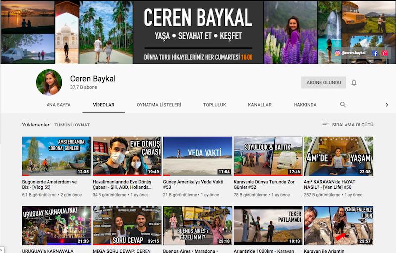 Ceren Baykal - Youtube Kanalı