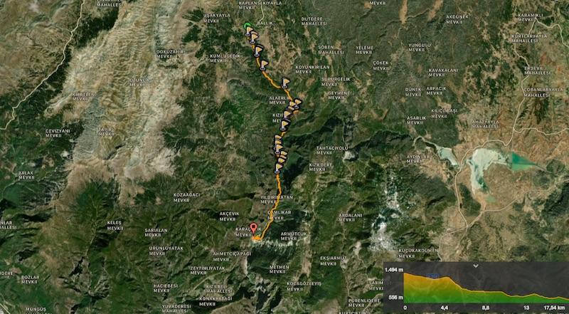 Karanlıkdere Kanyonu Wikiloc Kaydı