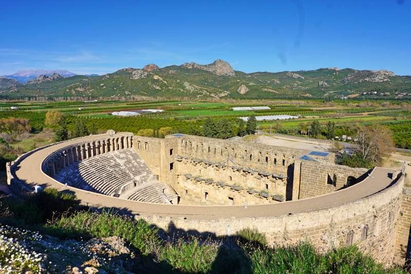 Tiyatro Tepesinden Aspendos Antik Tiyatrosu