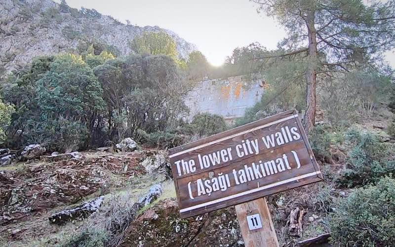Termessos aşağı şehir duvarları