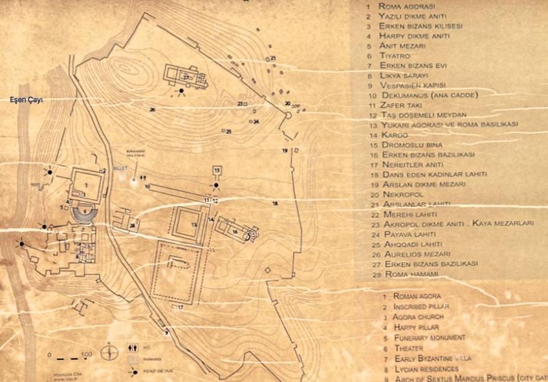 Xanthos Haritası